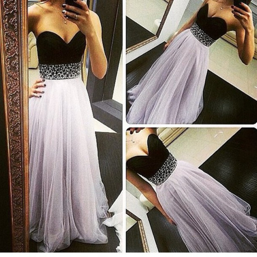955822b10c41 Summer Pale Violet Ball Gown Patchwork Bra Slim Shaped Sexy Dress Prom Dress